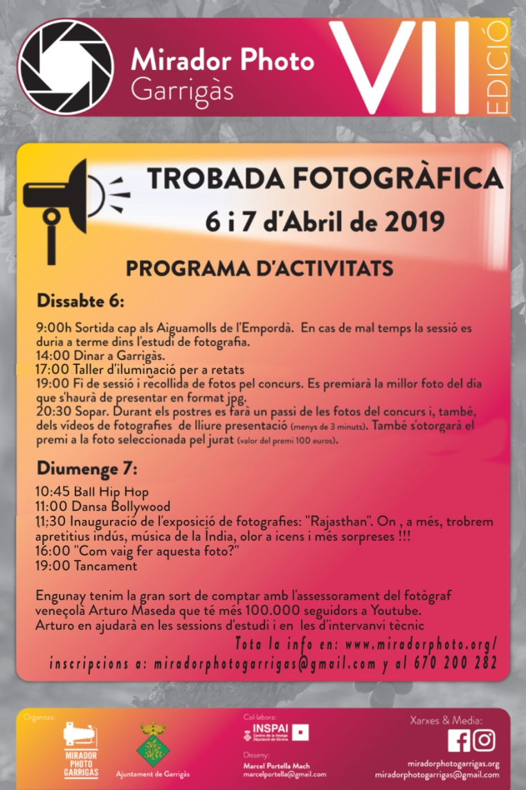Mirador Photo Garrigàs 2019 Programa